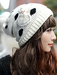 Women's  Fashion Personality Delicate Knitting Keep Warm Ball Hat
