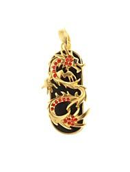 zp 64gb Rubin goldenen Drachen Muster Bling Diamant-Metal-Stil USB-Stick