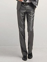 Men Slim Leisure Silver Gray Trousers