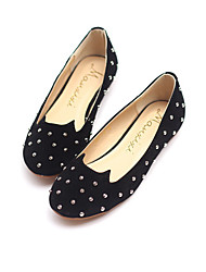 Xueling Rivet Cute Cat Head Shoes(Black)
