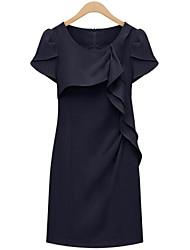 Camisas de Vestir ( Gasa/Algodón Compuesto/Lino/Organza )- Casual