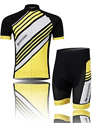 XINTOWN Cycling Jersey with Shorts Men's Short Sleeve BikeBreathable Quick Dry Moisture Permeability Compression Lightweight Materials