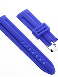 Unisex Silicone Watch Band Strap 22MM(Blue)