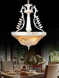 pendentif blanc trois feux motif de verre ombre main doré européen 220v classique rétro