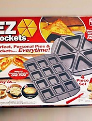 "Easy to Make Individual Triangular Pie Pans Tools Recipe Guide ,Metal 15.6""X12.68""X1.68"""