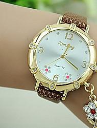 Women's Set Auger Plum Flower PU Quartz Watch (Assorted Colors)