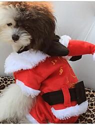 Hunde - Winter - Baumwolle Rot - Kapuzenshirts - XS / S / M / L / XL