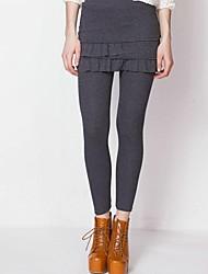 Women's Lovely Black Fungus And False Two Packages Hip Skirt Leggings