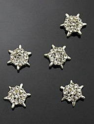 10pcs   DIY Wheel Rhinestone Alloy For  Finger Tips Jewelry Accessories Nail Art Decoration