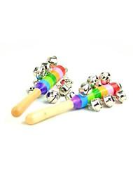 Atividade do arco-íris 20 centímetros do sino de madeira chocalhos de brinquedo carrinho de bebê berço shakers bebê