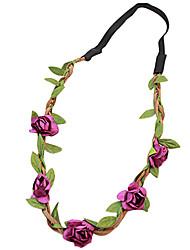 praia casamento boêmio partido festival noiva cocar flor floral headbands festão cor aleatória