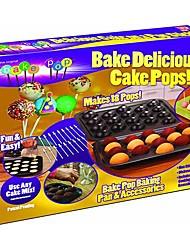 Bake 12 Delicious Cake Pops Ice Cream Birthday Baking Mould Maker Kit Non Stick