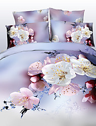 Tina Flower Thicken Three Dimensional Floral Print 4 Pcs Set Beddings