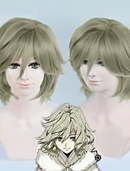 bakumatsu rocha Yoshinobu Tokugawa peruca cosplay de linho