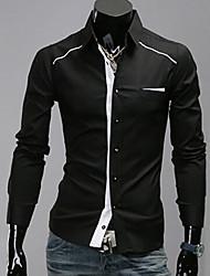 INMUR Schwarz Einfache Langarm-Shirt