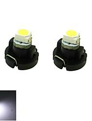 t3 conduit 0.2w 1x3528 smd blanc tableau de bord des jauges de munitions lampe ampoule de bord de voiture (12V DC, 2-pack)