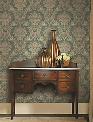 Damask Wallpaper Country Wall Covering,Pure Paper Yes