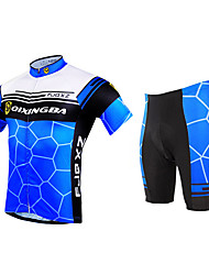 FJQXZ Cycling Jersey with Shorts Men's Short Sleeve Bike Breathable Quick Dry Ultraviolet Resistant Front ZipperSleeves Jersey Jersey +