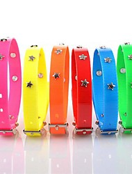 Adjustable TPU Waterproof  Pentagram Rivets Studded Spike Collar for Pets Dogs (Assorted Colors, Sizes)