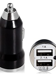 Mini Dual Usb Car Charger for iPhone/iPad/Samsung and Others(5V 1A/2.1A)
