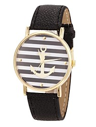 Women's Watch Fashionable Anchor Pattern Golden Case