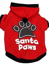 Invierno - Rojo / Negro - Navidad - Algodón - Camiseta - Perros - XS / M / S