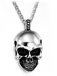 Terrorist Evil Skull Titanium Steel Man Necklace