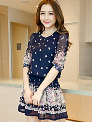 Women's Dresses , Chiffon Casual YPY