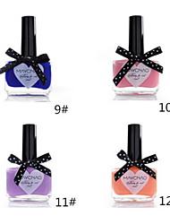 1pcs bonbons de couleur de vernis à ongles dentelle papillon bouteille no.9-12 (de couleurs assorties)