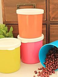 Plastic Fresh Proof Seal Storage Jar Random Color,7x6.5x6.5cm
