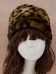 Women's The Snow Leopard Grain Imitation Fur Hats