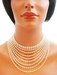 White Strands Necklaces Imitation Pearl Wedding / Party / Daily / Casual Jewelry