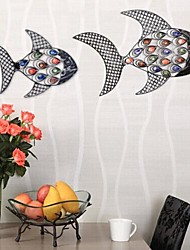 Metal Wall Art Wall Decor,Fish In Love Wall Decor Set Of 2