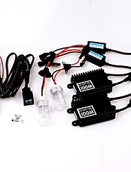 100W 12V H11 AC High Efficiency Hid Xenon Conversion Kit Ceramic Base Bulbs 6000K