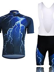 XINTOWN Moto/Ciclismo Conjuntos de Roupas/Ternos Homens Manga Curta Respirável / Compressão / Materiais Leves Terylene Preto / AzulS / M