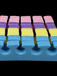 100pcs cor mix ferramenta separadores do dedo do pé de algodão paralelo esponja nail art