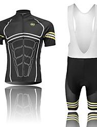 corps de force d'intervention rapide à manches courtes d'absorption d'humidité à sec et d'un pantalon jarretelles cyclisme costumes-Men