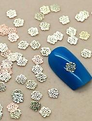 200pcs projeto da flor oco metal dourado arte fatia decoração de unhas