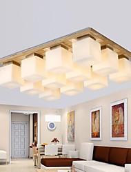 teto de carvalho lâmpada, doze luzes, carvalho e vidro, 220 ~ 240V (hy90212)