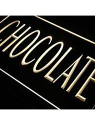negozio di cioccolato J688 richiamo caramelle regalo luce al neon segno