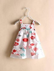 Girl's Print Dress,Cotton Summer