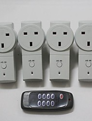 TS-868 UK4+1 Wireless UK Plug-in Mains Socket with Remote Control Switch Set 230V