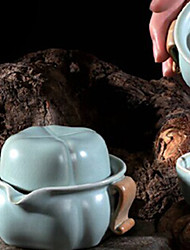 cinese ciano tè in porcellana set, 1 pc teiera, 1 pc tazza di tè