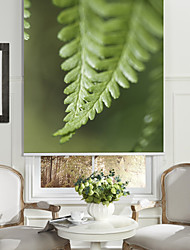Botanic Style Tiny Green Leaves Roller Shade