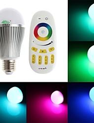 zweihnder e27 6w 800lm 6000-6500k 2.4ghz transmissão rf luz lâmpada LED RGB com controle remoto (AC 85-265V)