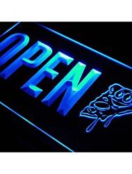 J770 aperta la pizza negozio di caffè bar negozio di luce al neon segno