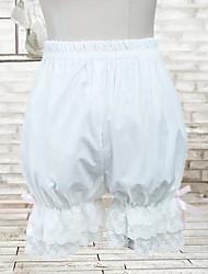 Pants Classic/Traditional Lolita Lolita Cosplay Lolita Dress White Solid Lolita Lolita Pants For Women Cotton