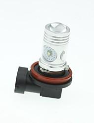 H11 PGJ192 CREE XP-E LED 20W 1300-1600LM 6500-7500K AC / DC12V-24 Fog White - Silver Black
