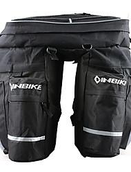 inbike noires grandes sacoches de vélo 3-en-1 avec housse de pluie
