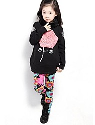 Girl's Floral Hoodie & Sweatshirt,Polyester / Cotton Blend Winter / Fall Black / Gray